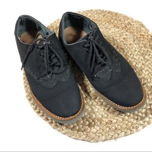 TOMS | Size 9 Black Tweed Oxford Dress Shoes